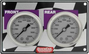 QUICKCAR RACING PRODUCTS #61-103 Mini Brake Bias Gauge Panel Horizontal