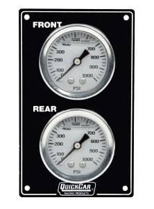 QUICKCAR RACING PRODUCTS #61-105 Mini Brake Bias Gauge Panel Vertical Black