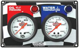 QUICKCAR RACING PRODUCTS #61-6001 2 Gauge Panel OP/WT