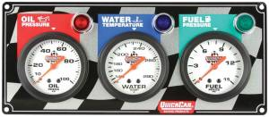QUICKCAR RACING PRODUCTS #61-6012 3 Gauge Panel OP/WT/FP
