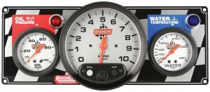 QUICKCAR RACING PRODUCTS #61-6031 2-1 Gauge Panel Tach OP/WT