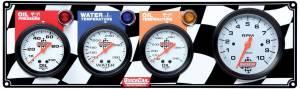 QUICKCAR RACING PRODUCTS #61-60413 Gauge Panel OP/WT/OT w/ Tach