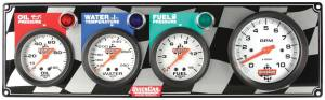 QUICKCAR RACING PRODUCTS #61-60423 Gauge Panel OP/WT/FP w/Tach