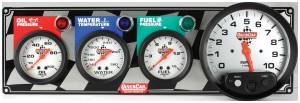 QUICKCAR RACING PRODUCTS #61-6042 3-1 Gauge Panel OP-WT-FP-Tach