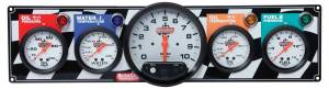 QUICKCAR RACING PRODUCTS #61-6051 4 Gauge Panel W/ 5in Tach