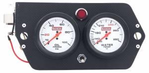 QUICKCAR RACING PRODUCTS #61-7005 Gauge Panel - Deluxe Sprint Carbon Fiber