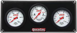 QUICKCAR RACING PRODUCTS #61-7012 3 Gauge Extreme Panel OP/WT/FP