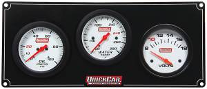 QUICKCAR RACING PRODUCTS #61-7017 3 Gauge Extreme Panel OP/WT/Volts
