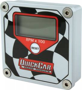 QUICKCAR RACING PRODUCTS #611-099 LCD Tachometer Checkered Flag Face
