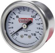 QUICKCAR RACING PRODUCTS #611-9015 Pressure Gauge 0-15 PSI 1.5in Liquid Filled
