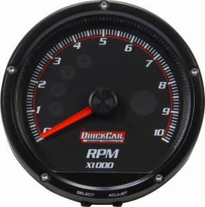 QUICKCAR RACING PRODUCTS #63-002 Redline Multi-Recall Tach Black