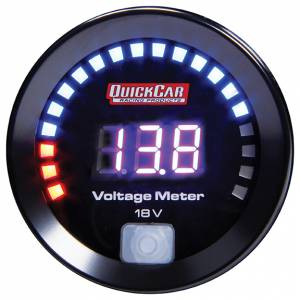 QUICKCAR RACING PRODUCTS #67-007 Digital Volt Gauge 8-18