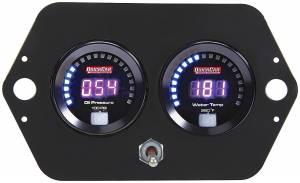 QUICKCAR RACING PRODUCTS #67-2005 Digital 2-Gauge Panel Open Wheel OP/WT w/Batt