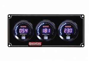 QUICKCAR RACING PRODUCTS #67-3011 Digital 3-Gauge Panel OP/WT/OT