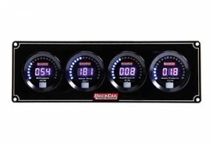 QUICKCAR RACING PRODUCTS #67-4026 Digital 4-Gauge Panel OP/WT/FP/WP