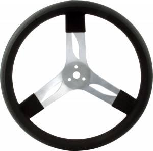 QUICKCAR RACING PRODUCTS #68-001 15in Steering Wheel Alum Black