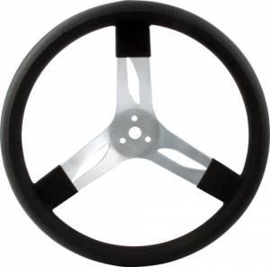 QUICKCAR RACING PRODUCTS #68-002 17in Steering Wheel Alum Black