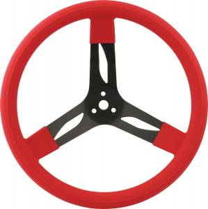 QUICKCAR RACING PRODUCTS #68-0031 15in Steering Wheel Stl Red
