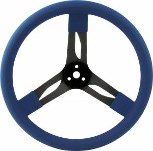 QUICKCAR RACING PRODUCTS #68-0032 15in Steering Wheel Stl Blue