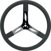 QUICKCAR RACING PRODUCTS #68-004 17in Steering Wheel Steel Black