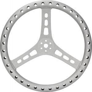 QUICKCAR RACING PRODUCTS #68-005 15in Steering Wheel L/W Aluminum Raw