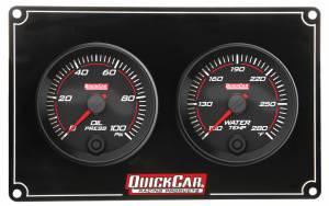 QUICKCAR RACING PRODUCTS #69-2001 Redline 2 Gauge Panel OP/WT