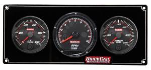 QUICKCAR RACING PRODUCTS #69-2031 Redline 2-1 Gauge Panel OP/WT w/Recall Tach