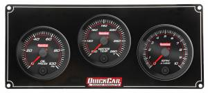 QUICKCAR RACING PRODUCTS #69-2231 Redline 2-1 Gauge Panel OP/WT w/Recall Tach