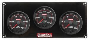 QUICKCAR RACING PRODUCTS #69-3012 Redline 3 Gauge Panel OP/WT/FP