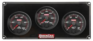 QUICKCAR RACING PRODUCTS #69-3017 Redline 3 Gauge Panel OP/WT/VOLT