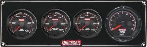 QUICKCAR RACING PRODUCTS #69-3041 Redline 3-1 Gauge Panel OP/WT/OT w/Recall Tach