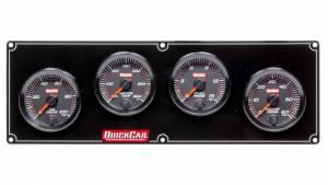 QUICKCAR RACING PRODUCTS #69-4026 Redline 4 Gauge Panel OP/WT/FP/WP