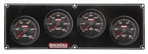 QUICKCAR RACING PRODUCTS #69-4027 Redline 4 Gauge Panel OP/WT/OT/Volt