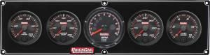 QUICKCAR RACING PRODUCTS #69-4051 Redline 4-1 Gauge Panel OP/WT/OT/FP w/Recall Tac