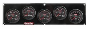 QUICKCAR RACING PRODUCTS #69-4251 Redline 4-1 Gauge Panel OP/WT/OT/FP w/2-5/8 Tach