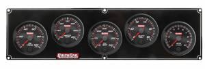 QUICKCAR RACING PRODUCTS #69-4257 Redline 4-1 Gauge Panel OP/WT/OT/Volt w/2-5/8 Ta