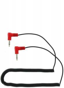 RACING ELECTRONICS #RE-18 Adapter Cable 1/8in Male 1/8in Male Coiled