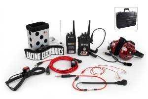 RACING ELECTRONICS #RE185 Chase 2 Way Radio Kit Motorola CP185