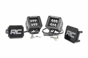 ROUGH COUNTRY #70903BL 2-inch Black Series CREE LED Square Lights