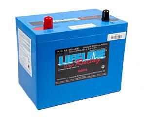 LIFELINE BATTERY #1640TB 16 Volt 2 Post Battery