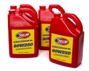 REDLINE OIL #58625 CASE/4 80w250 Gear Oil Gl-5 Case 4 x 1 gallon