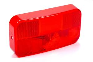 REESE #34-92-708 Replacement Taillight Lens Red W/ License Brkt