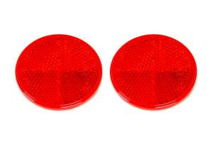 REESE #74-55-010 Reflector 2-3/16in Round Adhesive Mount Red