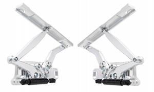 67-69 Camaro Hood Hinge Kit Solid Arm Natrl Stl