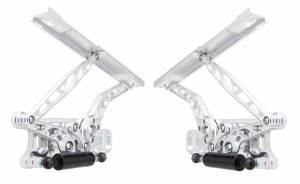 67-69 Camaro Hood Hinge Kit Air Frame Natrl Stl