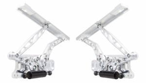 65-67 Chevelle Hood Hing Kit Air Frame Natrl Stl