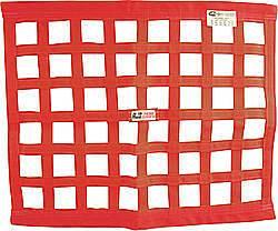 RJS SAFETY #10000604 Ribbon Window Net 24x24 Red SFI