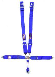 RJS SAFETY #1034103 5 Pt Harness System Q/R Blue Roll Bar 2in