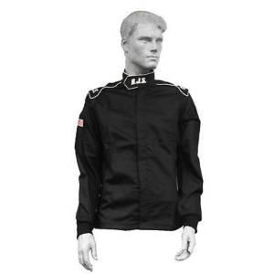 RJS SAFETY #200490106 Jacket Elite X-Large SFI 3.2A/20 Black
