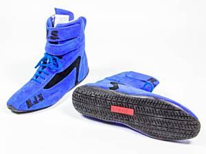 RJS SAFETY #500010356 Redline Shoe High-Top Blue Size 10 SFI-5